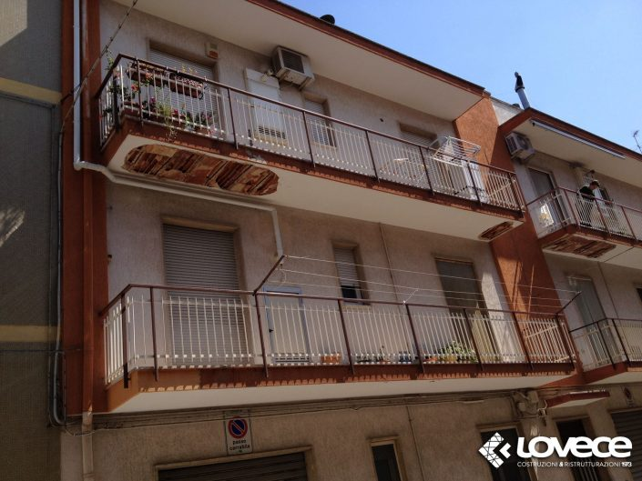 Lovece srl - Ristrutturazione delle facciate esterne e del solaio di un condominio